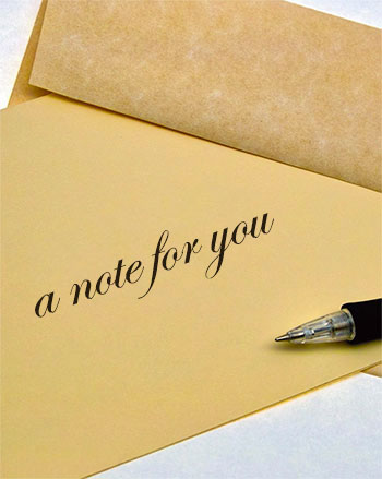 a note for you