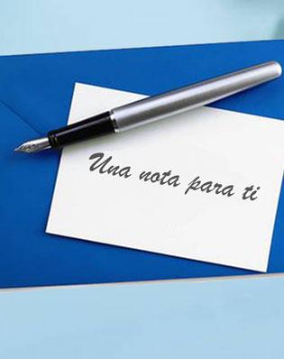 Una nota para ti